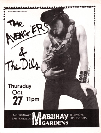 Avengers & the Dils at Mabuhay Gardens