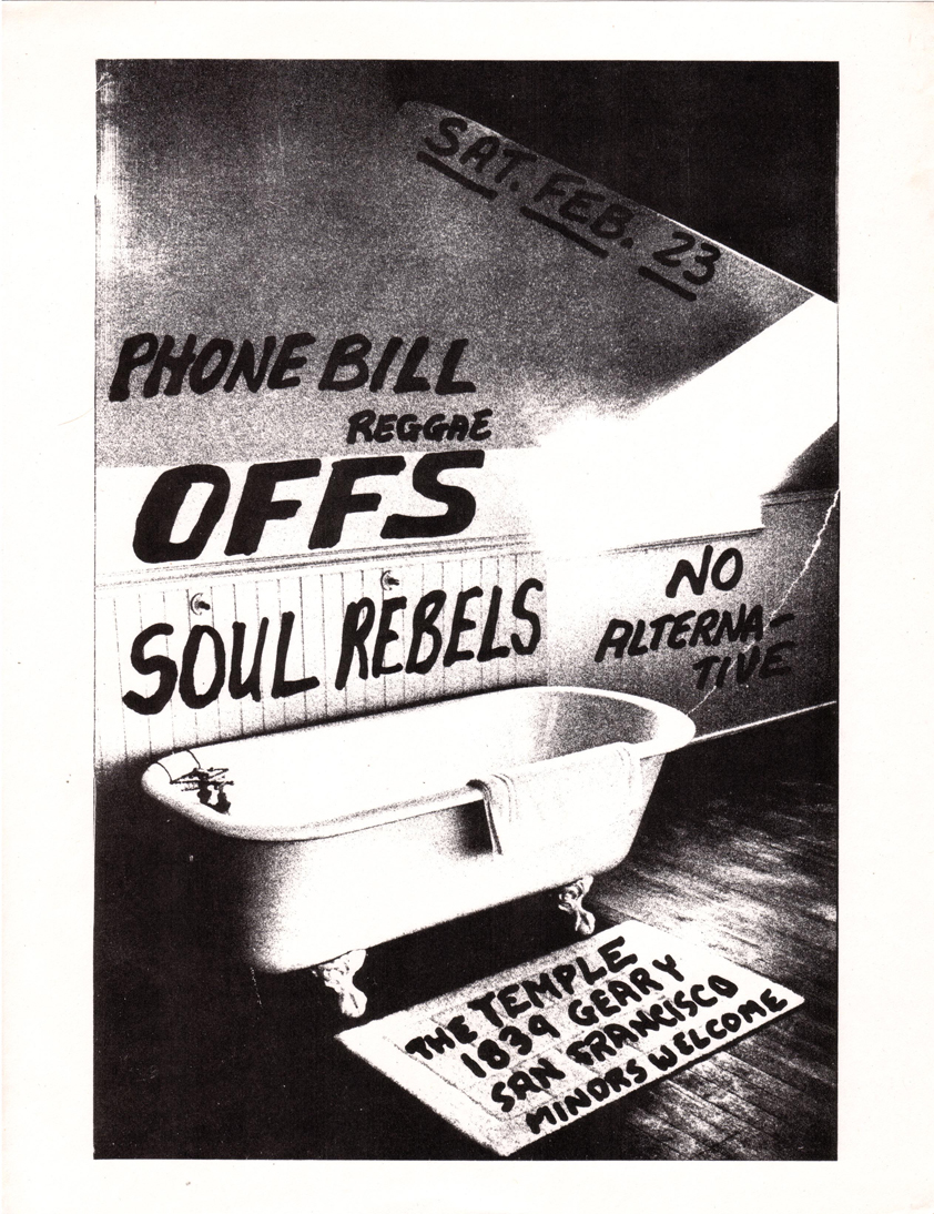 offs phone bill  soul rebels 1839 geary st the temple