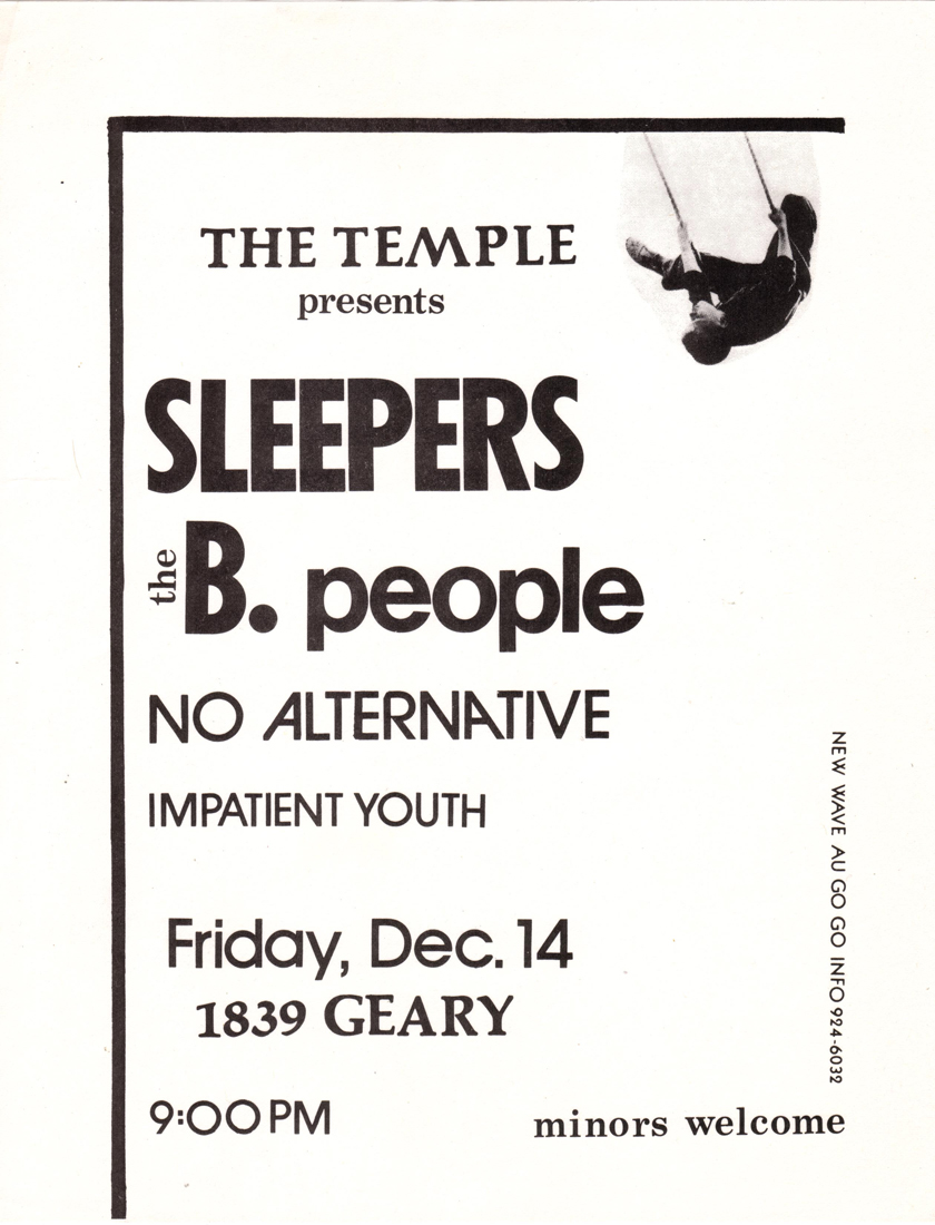 sleepers b people impatient youth no alternative temple 1839 geary