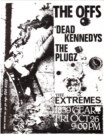 new wave au go go  the offs dead kennedys  1839 geary the extremes